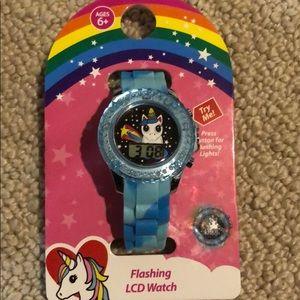 Light up flashing unicorn watch